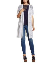 Two By Vince Camuto - Mixed-stitch Interest Cardigan - Lyst