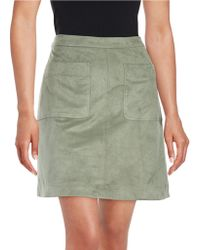 Two By Vince Camuto - Faux Suede A-line Skirt - Lyst