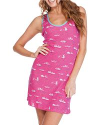 Munki Munki - Bunny Slippers Racerback Tank Dress - Lyst
