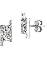 Morris & David - Diamond Cluster 14k White Gold Earrings, 0.5 Tcw - Lyst