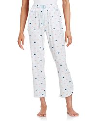 Jane And Bleecker - Printed Jersey Pants - Lyst