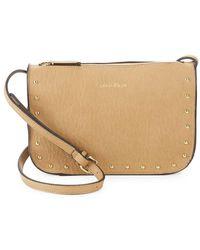 Calvin Klein - Cora Studded Leather Crossbody Bag - Lyst