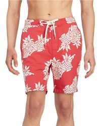 Brooks Brothers Red Fleece - Tropical Swim Shorts - Lyst