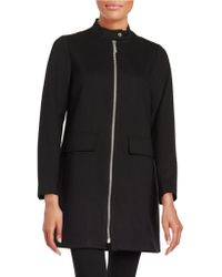Vince Camuto - Zip-front A-line Jacket - Lyst