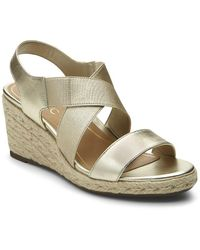 Vionic - Ainsleigh Leather Wedge Sandals - Lyst