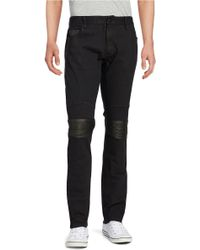 Rogue State - Faux Leather-trimmed Jeans - Lyst