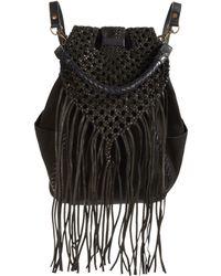 Liebeskind Berlin - Ida Leather-trimmed Backpack - Lyst
