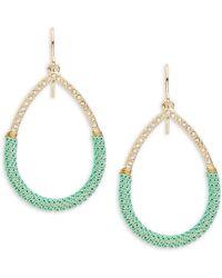 ABS By Allen Schwartz - Chain Wrapped Teardrop Earrings - Lyst