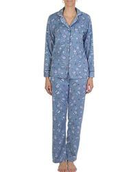 Claudel - Tea Micropolar Two-piece Pajama Set - Lyst