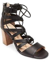 Me Too - Manda Leather Ghillie Sandals - Lyst
