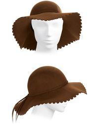 Kathy Jeanne - Scalloped Wool Hat - Lyst