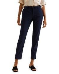 Mango - Belted Straight-leg Pants - Lyst