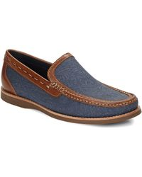 Tommy Bahama - Berwin Burnished Canvas-leather Loafers - Lyst