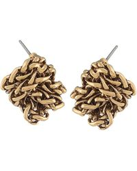 Lauren by Ralph Lauren - Goldtone Braided Knot Stud Earrings - Lyst