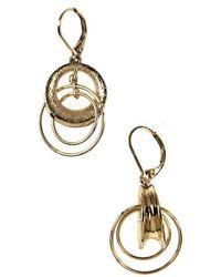 Anne Klein - Goldtone Interlock Hoop Earrings - Lyst