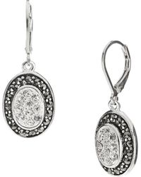 Lord & Taylor - Rhinestone Accented Earrings - Lyst
