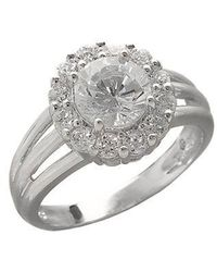 Lord & Taylor - Sterling Silver And Cubic Zirconia Flower Ring - Lyst