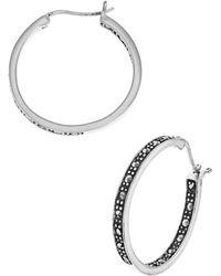 Lord & Taylor - Rhinestone Hoop Earrings - Lyst
