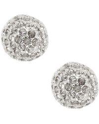 Anne Klein - Crystal Fireball Stud Earrings - Lyst