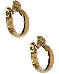 Anne Klein - 12 Kt Gold Plated Hoop Earrings - Lyst
