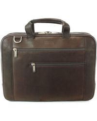 Kenneth Cole Reaction - Leather Laptop Bag0125-528571 - Lyst
