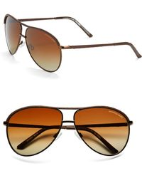 Marc New York | 60mm Aviator Sunglasses | Lyst