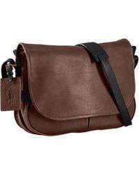Polo Ralph Lauren - Leather Messenger Bag - Lyst