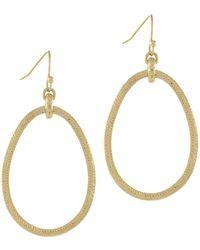 Cole Haan - Goldtone Basketweave Drop Earrings - Lyst