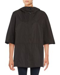 Ellen Tracy - Hooded Poncho Coat - Lyst