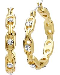 Anne Klein - Goldtone Glass Stone Studded Earrings - Lyst