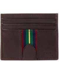 Polo Ralph Lauren - Grosgrain-striped Card Case - Lyst