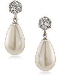 Lauren by Ralph Lauren - Stone-accented And Faux Pearl Drop Earrings - Lyst