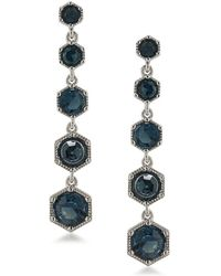 Lauren by Ralph Lauren - Headlines Stone-accented Hexagon Linear Drop Earrings - Lyst