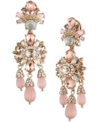 Marchesa - Drama Goldtone Chandelier Earrings - Lyst