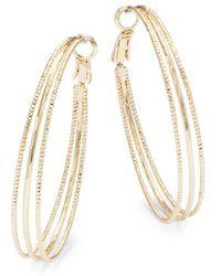 ABS By Allen Schwartz - Venice Beach Hoop Earrings - Lyst