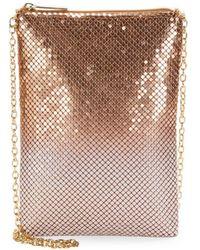 Jessica Mcclintock - Embellished Phone Shoulder Bag - Lyst