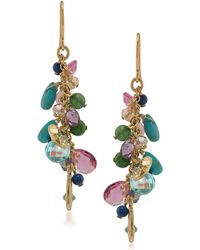 Lauren by Ralph Lauren - Semi-precious Linear Drop Earrings - Lyst