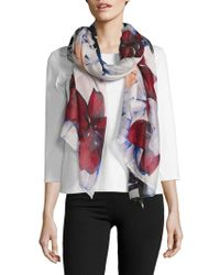 Lord & Taylor - Floral Printed Scarf - Lyst