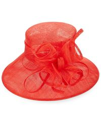 Kathy Jeanne - Wide Brim Decorative Mesh Hat - Lyst