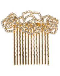 Lord & Taylor - Stone-accented Floral Hair Comb - Lyst