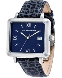 Ike Behar - Square Leather Strap Analog Watch - Lyst