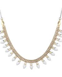 Lucky Brand - California Gardens Semi-precious Rock Crystal Necklace - Lyst