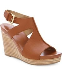 Me Too - Atlantis Leather Wedge Sandals - Lyst