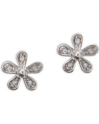 Lauren by Ralph Lauren - Crystal Floral Stud Earrings - Lyst