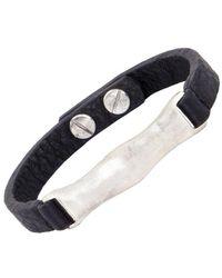 The Sak - Silvertone And Leather Id Bracelet - Lyst