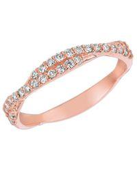 Morris & David   Diamond And 14k Rose Gold Weave Ring, 0.3 Tcw   Lyst