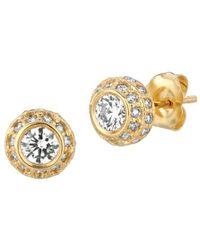 Morris & David - 1 Tcw Diamond And 14k Yellow Gold Stud Earrings - Lyst