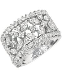 Morris & David - 14k White Gold Diamond Band Ring - 2.35 Tcw - Lyst