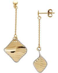 Lord & Taylor - 14k Pdc Italian Gold Twisted Diamond Drop Earrings - Lyst