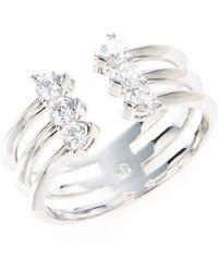 Nadri - Silvertone Crystal-accented Ring - Lyst